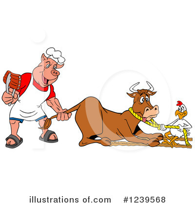 Bull Clipart #1239568 by LaffToon