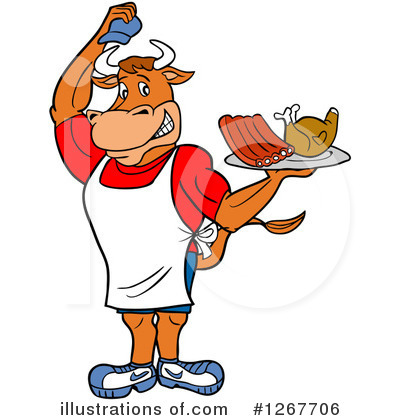 Bull Clipart #1267706 by LaffToon
