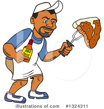 Royalty-Free (RF) Bbq Clipart Illustration by LaffToon - Stock Sample #1324311