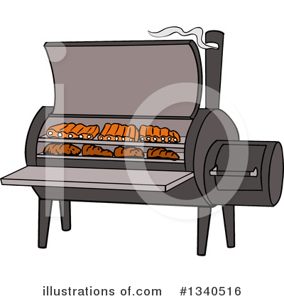 Bbq Smoker Clipart #1340516 by LaffToon