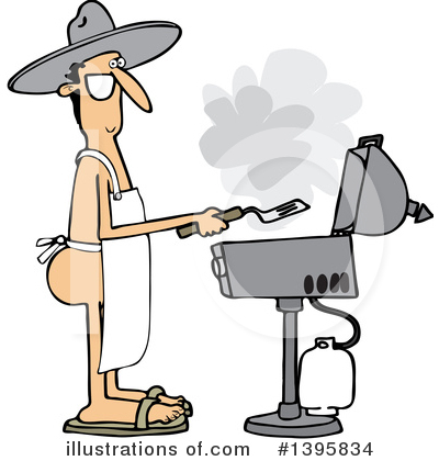 Royalty-Free (RF) Bbq Clipart Illustration by djart - Stock Sample #1395834