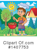 Royalty-Free (RF) Bbq Clipart Illustration #1407753
