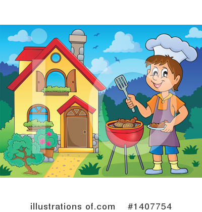 Bbq Clipart #1407754 by visekart