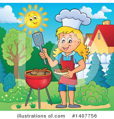 Bbq Clipart #1407756 by visekart