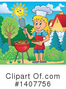 Royalty-Free (RF) Bbq Clipart Illustration #1407756