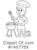 Royalty-Free (RF) Bbq Clipart Illustration #1407759