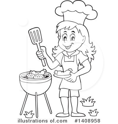 Bbq Clipart #1408958 by visekart