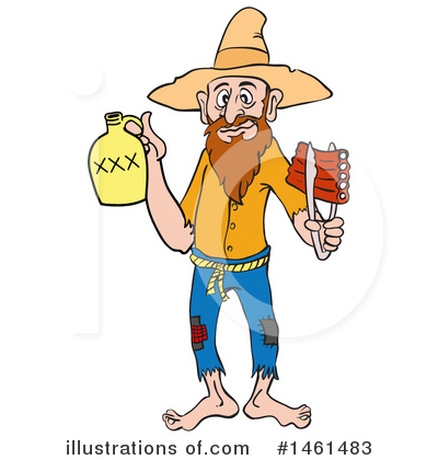 Hillbilly Clipart #1461483 by LaffToon