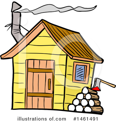 Smoke House Clipart #1461491 by LaffToon
