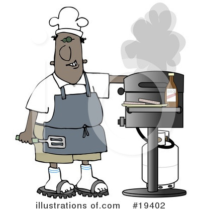 Royalty-Free (RF) Bbq Clipart Illustration by djart - Stock Sample #19402