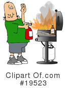 Royalty-Free (RF) Bbq Clipart Illustration #19523