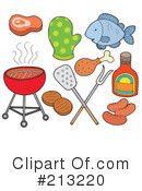 Royalty-Free (RF) Bbq Clipart Illustration #213220