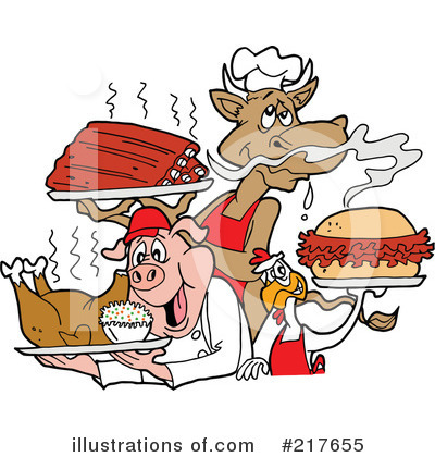 Royalty-Free (RF) Bbq Clipart Illustration by LaffToon - Stock Sample #217655