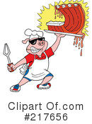 Royalty-Free (RF) Bbq Clipart Illustration #217656