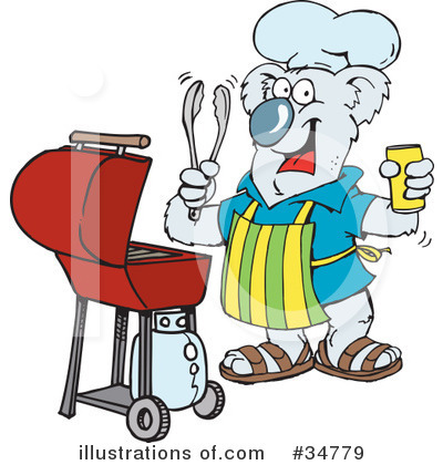 Barbecue Clipart #34779 by Dennis Holmes Designs