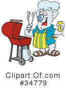 Royalty-Free (RF) Bbq Clipart Illustration #34779