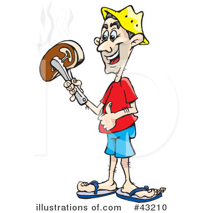 Royalty-Free (RF) Bbq Clipart Illustration by Dennis Holmes Designs - Stock Sample #43210