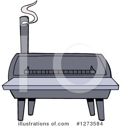 Bbq Smoker Clipart #1273584 by LaffToon