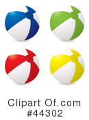 Beach Ball Clipart #44302 by michaeltravers