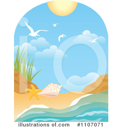 Royalty-Free (RF) Beach Clipart Illustration by Amanda Kate - Stock Sample #1107071