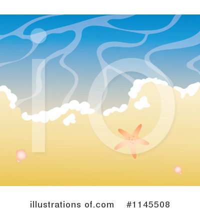 Royalty-Free (RF) Beach Clipart Illustration by Rosie Piter - Stock Sample #1145508
