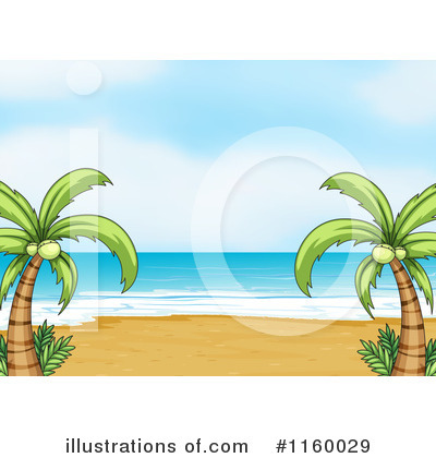 Palm Trees Clipart #1160029 by Graphics RF