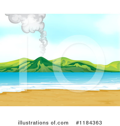 Volcano Clipart #1184363 by Graphics RF