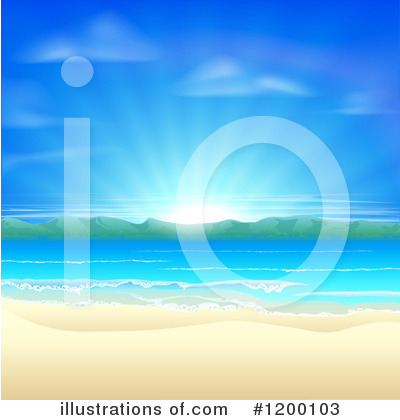 Beach Clipart #1200103 by AtStockIllustration