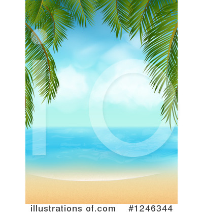 Beach Clipart #1246344 by elaineitalia