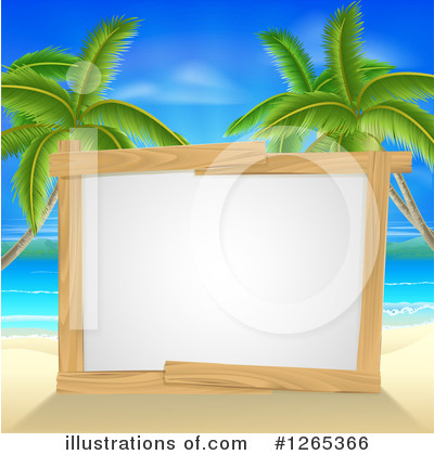 Beach Clipart #1265366 by AtStockIllustration