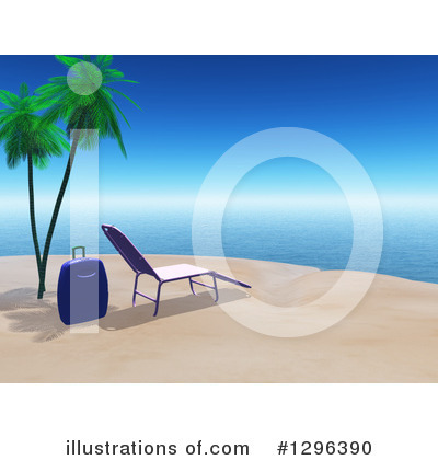 Tropical Beach Clipart #1296390 by KJ Pargeter