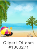 Royalty-Free (RF) Beach Clipart Illustration #1303271