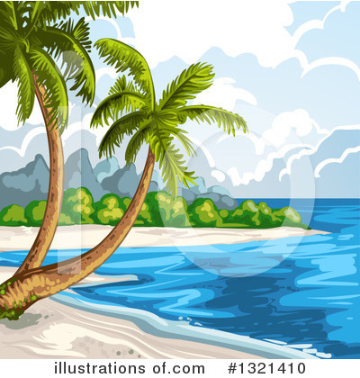 Tropical Beach Clipart #1321410 by merlinul