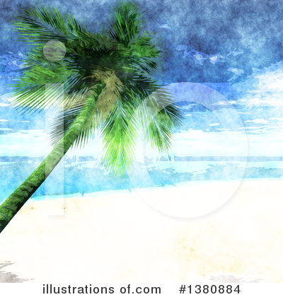 Tropical Beach Clipart #1380884 by KJ Pargeter