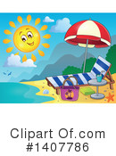 Beach Clipart #1407786 by visekart