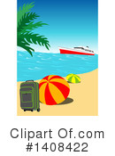 Royalty-Free (RF) Beach Clipart Illustration #1408422