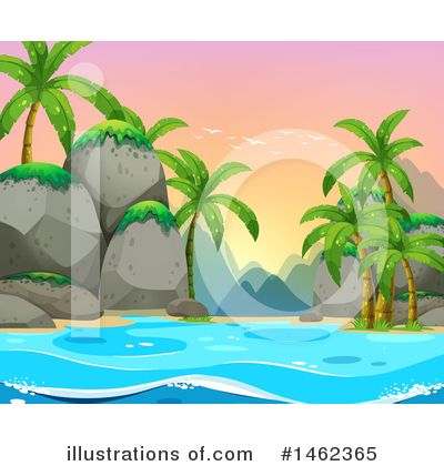 Palm Trees Clipart #1462365 by Graphics RF