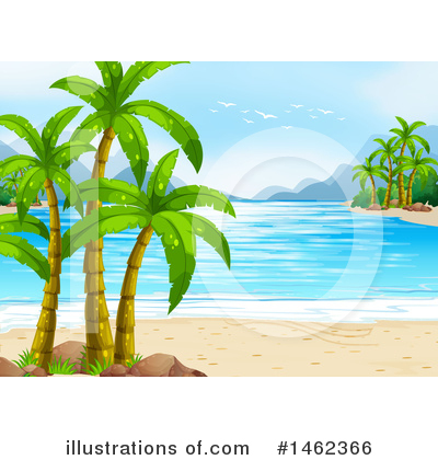 Palm Trees Clipart #1462366 by Graphics RF