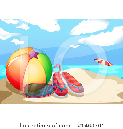 Tropical Beach Clipart #1463701 by Graphics RF