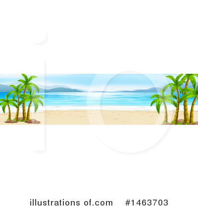 Tropical Beach Clipart #1463703 by Graphics RF