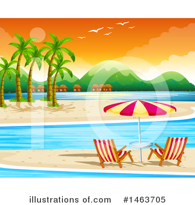 Tropical Beach Clipart #1463705 by Graphics RF