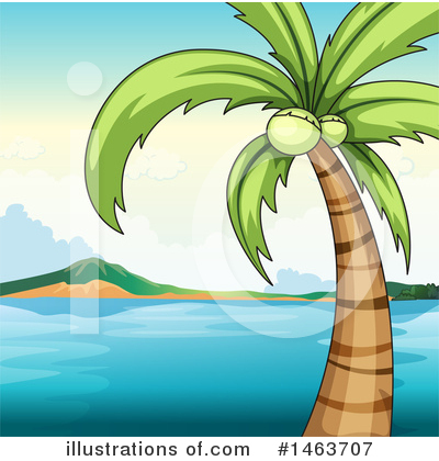 Tropical Beach Clipart #1463707 by Graphics RF