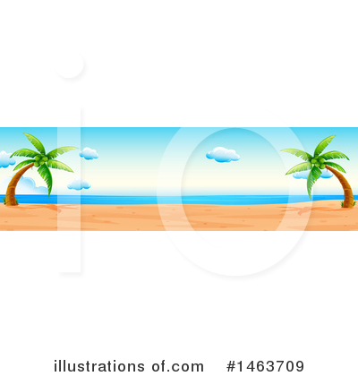 Tropical Beach Clipart #1463709 by Graphics RF