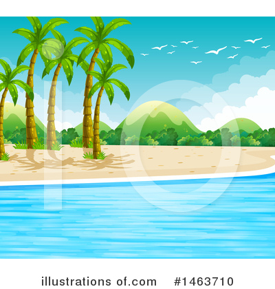 Tropical Beach Clipart #1463710 by Graphics RF