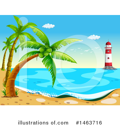 Tropical Beach Clipart #1463716 by Graphics RF