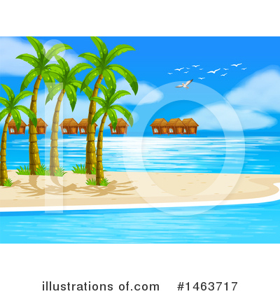 Tropical Beach Clipart #1463717 by Graphics RF