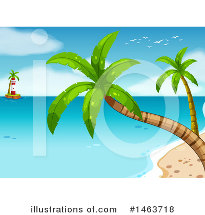 Tropical Beach Clipart #1463718 by Graphics RF