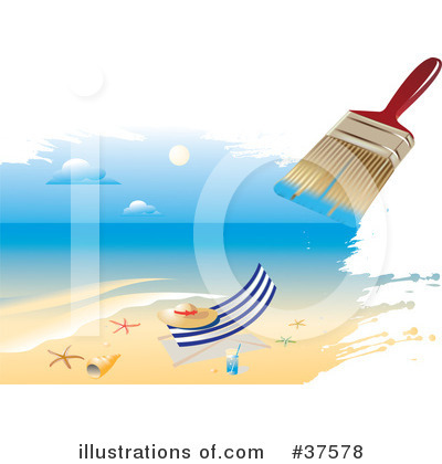 Beach Clipart #37578 by Eugene