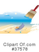 Royalty-Free (RF) Beach Clipart Illustration #37578