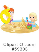 Royalty-Free (RF) beach Clipart Illustration #59303